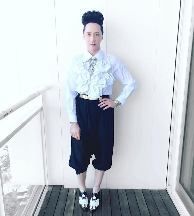 <p>Photo via Instagram/johnnygweir </p>