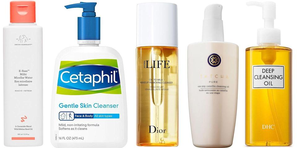 "<p class=""body-dropcap"">You know if you have dry skin. It can be rough, flaky, and prone to redness or irritation—when your skin needs moisture, it's not exactly subtle. What's less obvious is how to go about washing and cleansing already dehydrated skin. ""When you have dry skin, it is screaming for hydration,"" says board-certified dermatologist <a href=""https://www.drflorakim.com/"" rel=""nofollow noopener"" target=""_blank"" data-ylk=""slk:Dr. Flora Kim"" class=""link rapid-noclick-resp"">Dr. Flora Kim</a>. ""It is super important to think about ingredients that can best help support the precious compromised skin barrier and help not only repair and nourish it, but also optimize its function.""</p><p>Kim recommends ceramides, lipids, and fatty acids, as well as ingredients that prevent <a href=""https://www.harpersbazaar.com/uk/beauty/skincare/a20072267/how-much-water-to-drink-for-skin/"" rel=""nofollow noopener"" target=""_blank"" data-ylk=""slk:transepidermal water loss"" class=""link rapid-noclick-resp"">transepidermal water loss</a>. Additionally, she warns against faces washes blended with skin-scratching or irritating textures—think harsh scrubs and beads—as well as deep-cleansing face brushes. ""Your skin is delicate!"" Kim adds. ""I recommend creamy or oil-based cleansers that are generously used (quantity is important too) and gently massaged onto your skin with your fingertips."" <br></p><p>And we have you covered for that part. Below, some of our go-to face washes for dry skin that calm down irritation and plump up moisture levels. </p>"