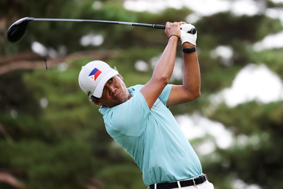 Juvic Pagunsan of the Philippines during the first round of the men's golf individual competition at the 2020 Tokyo Olympics.