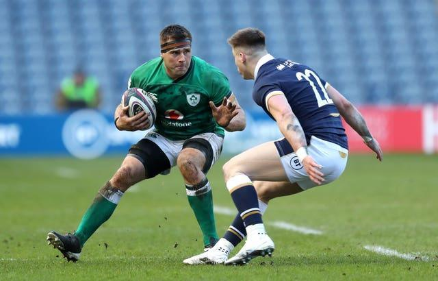 Ireland's CJ Stander, left, produced the most carries in his final Six Nations campaign before retirement
