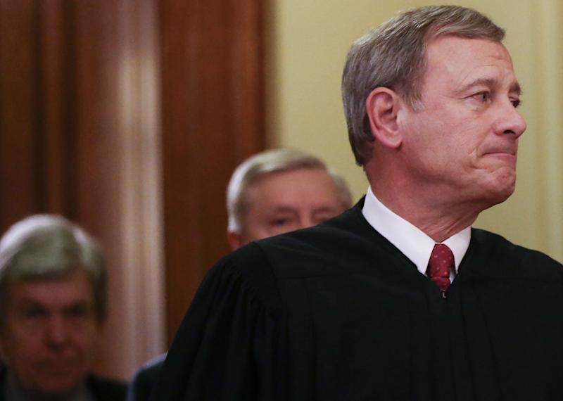 Chief Justice John Roberts has sided with the majority in a number of cases outraging conservatives in 2020. (Photo: Mario Tama via Getty Images)