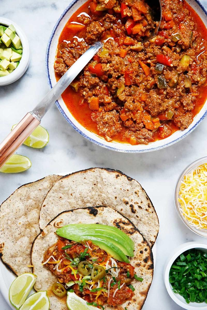 "<strong>Get the <a href=""https://lexiscleankitchen.com/best-taco-meat/"" target=""_blank"" rel=""noopener noreferrer"">Best Instant Pot Taco Meat</a> recipe from Lexi's Clean Kitchen.</strong>"