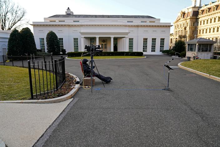 <p>West wing of the White House on Trump's last full day in office</p> (Copyright 2021 The Associated Press. All rights reserved.)