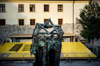 The pope is to meet the Jewish community, including Holocaust survivors, in Bratislava's Rybne Square where a synagogue once stood (AFP/VLADIMIR SIMICEK)