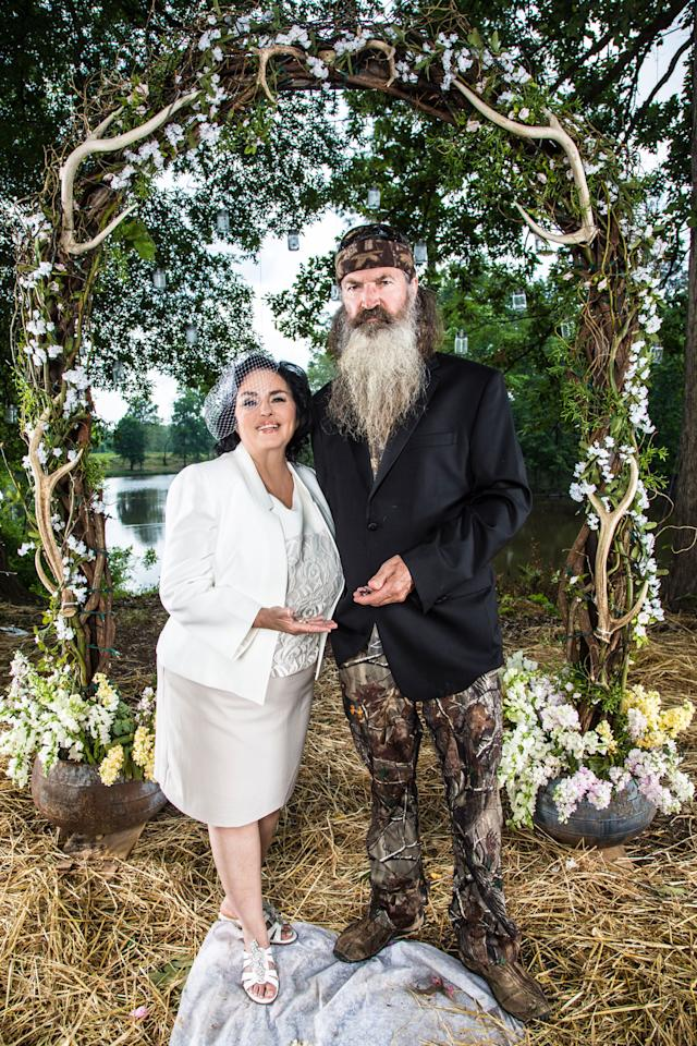 "Miss Kay and Phil Robertson in Season 4 of A&E's ""Duck Dynasty."""