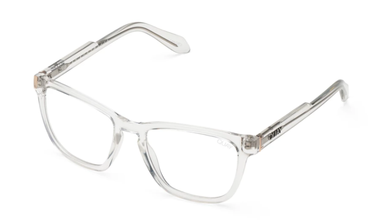 Hardwire Blue Light blocking glasses in Clear. Image via Quay.