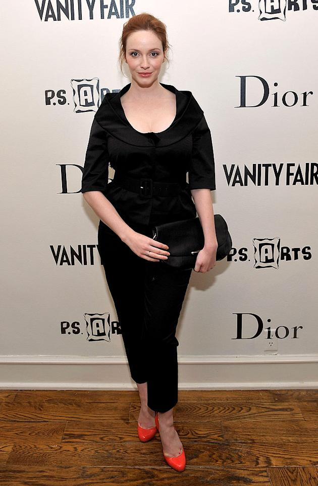 """Mad Men"" star Christina Hendricks sported an unfortunate ensemble and drab 'do. What was she thinking?! Charley Gallay/<a href=""http://www.gettyimages.com/"" target=""new"">GettyImages.com</a> - March 1, 2010"