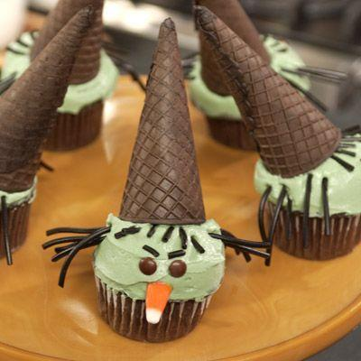 """<p>Our trick: Keep kids antsy for the festivities happily busy by letting them help with the simple decorations.</p><p>Get the recipe from <a href=""""https://www.delish.com/cooking/recipe-ideas/recipes/a7964/wicked-witch-cupcakes-recipe/"""" rel=""""nofollow noopener"""" target=""""_blank"""" data-ylk=""""slk:Delish"""" class=""""link rapid-noclick-resp"""">Delish</a>.</p>"""