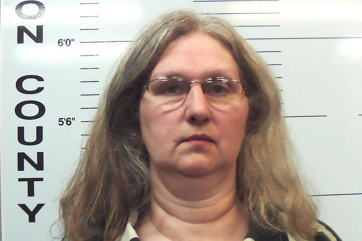 This undated photo provided by the Missouri Attorney General's office shows Stephanie Householder, one of the owners of a former reform school for girls in southwest Missouri who has been charged with more than 100 counts alleging they abused and neglected residents at the facility for years. Stephanie and Boyd Householder, who operated the Circle of Hope Girls Ranch in Cedar County, were charged Tuesday, March 9, 2021, and are being held in the Cedar County Jail. (Missouri Attorney General's office via AP)
