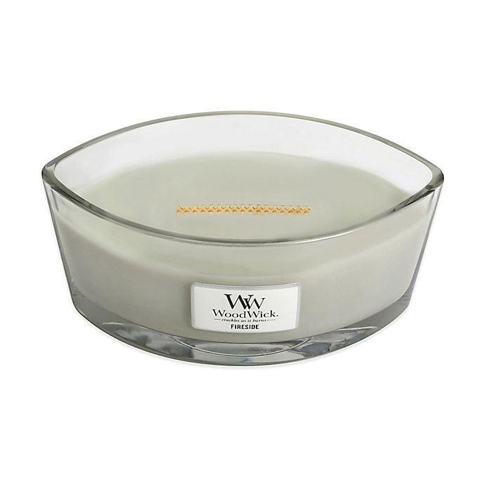 <p>The <span>WoodWick® Fireside Large Candle</span> ($30) is the perfect scent to make you feel the warmth and joy of the holidays.</p>