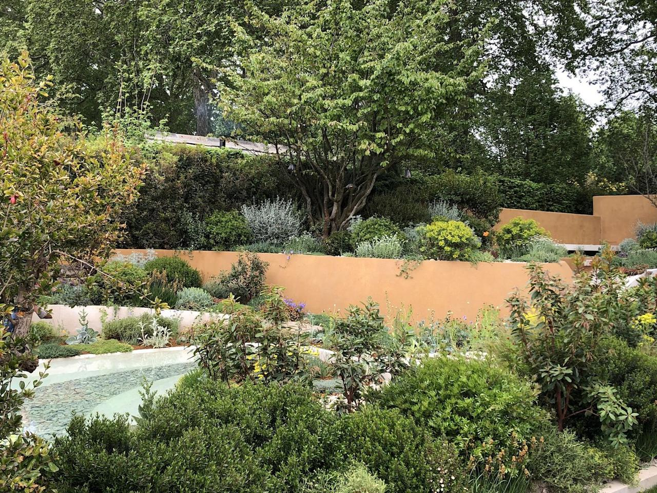 <p>The natural landscape is a major influence in gardens of all sizes this year.  <strong>Joe Perkins MSGD</strong> imagines the ever-changing coastal landscape using naturalistic seaside planting including Agapanthus, Sea Kale and the Australian Cushion Bush, while <strong>Tom Hoblyn MSGD </strong>takes inspiration from the wind-blown sand dunes of arid landscapes for his Middle Eastern garden. </p><p>More easily replicated is the planting on the Warner's Distillery garden by <strong>Helen Elks-Smith MSGD,</strong> inspired by the English countryside and including a wildflower turf embedded with local species of Cowslip, Achillia and Harebell and a swathe of native hedgerow. Elsewhere, in <strong>Sue Hayward's </strong>artisan garden, the designer has created a haven for wildlife.   </p><p>Image: Tom Hoblyn MSGD</p>