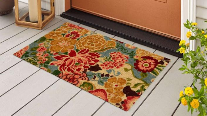 This bright doormat will welcome you home every day.