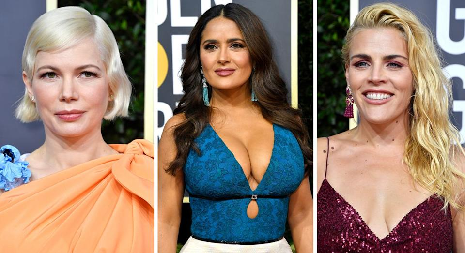 Three stars with radically different styles complete their look with Pillow Talk. (Credit: Getty)
