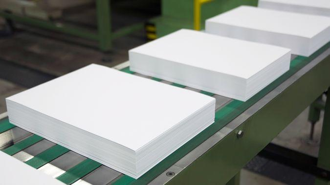 Paper factory.