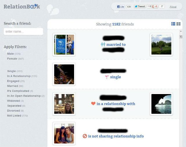 Single or Taken? App Tells You Which Facebook Friends Are in Relationships