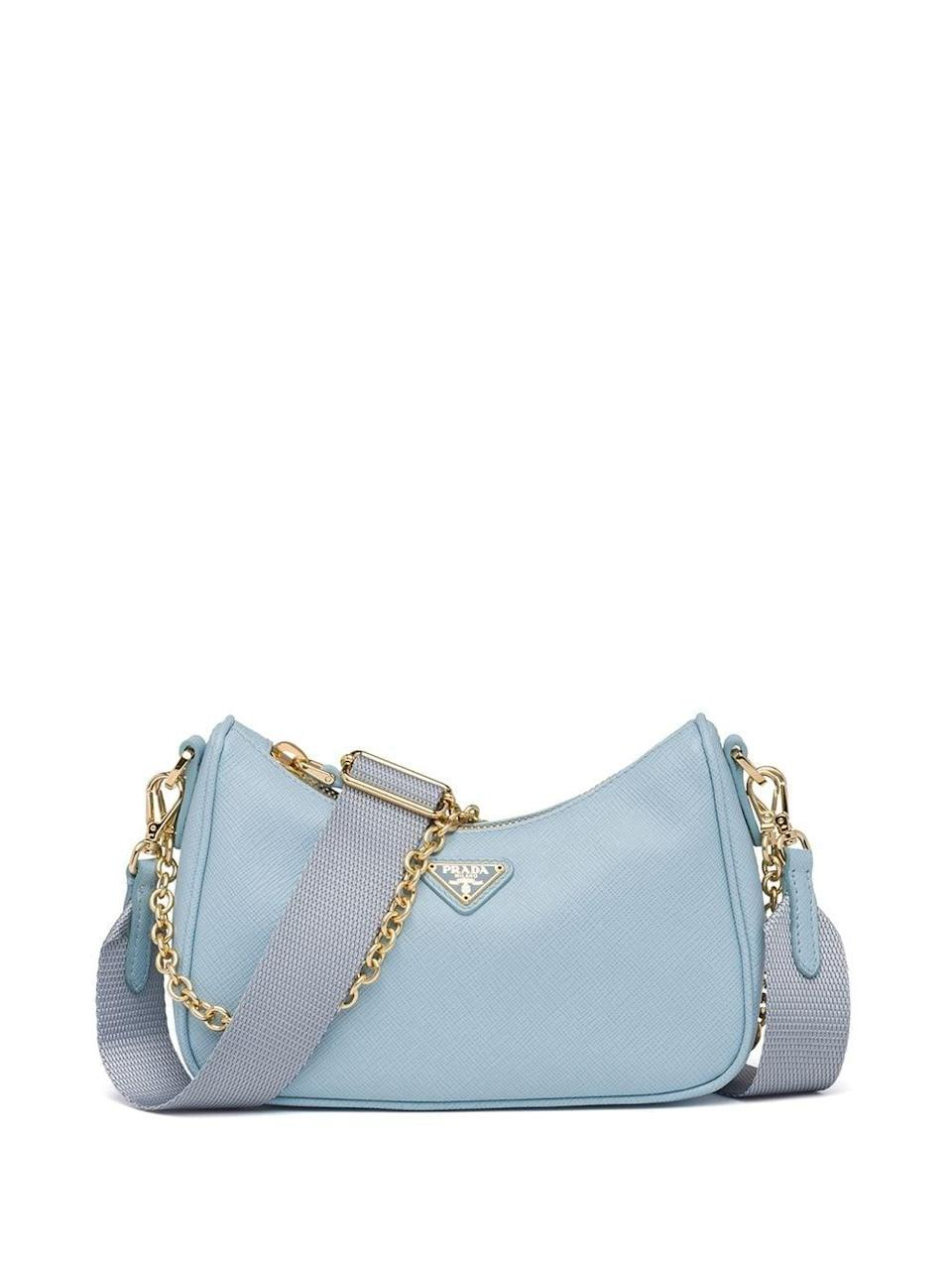 <p>The <span>Prada Saffiano Leather Mini Bag</span> ($1,490) is a clear winner. We love the baby blue mixed with gold hardware, and you can take off the nylon strap, making it a dainty shoulder bag.</p>