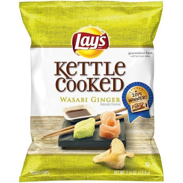 "<p>The 2014 winner of Lay's <a href=""https://www.delish.com/food/news/a41420/wasabi-ginger-lays/"" rel=""nofollow noopener"" target=""_blank"" data-ylk=""slk:&quot;Do Us A Flavor&quot; contest"" class=""link rapid-noclick-resp"">""Do Us A Flavor"" contest</a>, wasabi ginger, may be a bit over-the-top, but the unrelenting flavor is exactly what its supporters love about this chip.</p>"