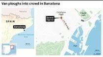 13 dead as van rams crowd in Barcelona attack