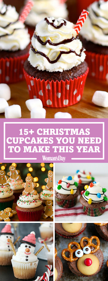 "<p>Save these Christmas cupcake recipes for later! Don't forget to <a rel=""nofollow"" href=""https://www.pinterest.com/womansday/"">follow Woman's Day on Pinterest</a> for more great recipes.</p>"