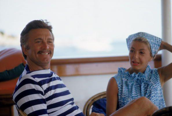 <p>Douglas enjoys a mediterranean vacation with his wife, Anne Buydens. The Hollywood couple looked relaxed as they sailed on a yacht in Sardinia, Italy. </p>