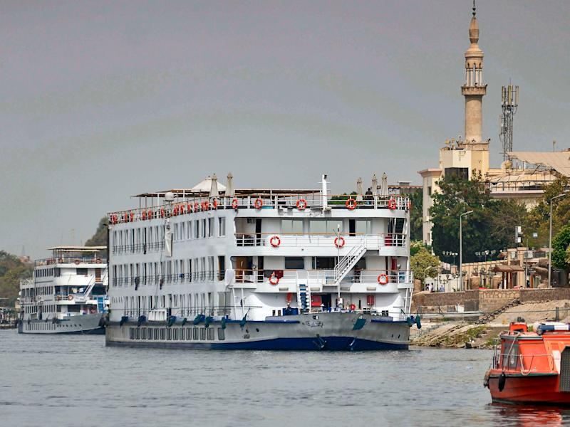 Nile cruise ship quarantined Luxor Egypt COVID 19