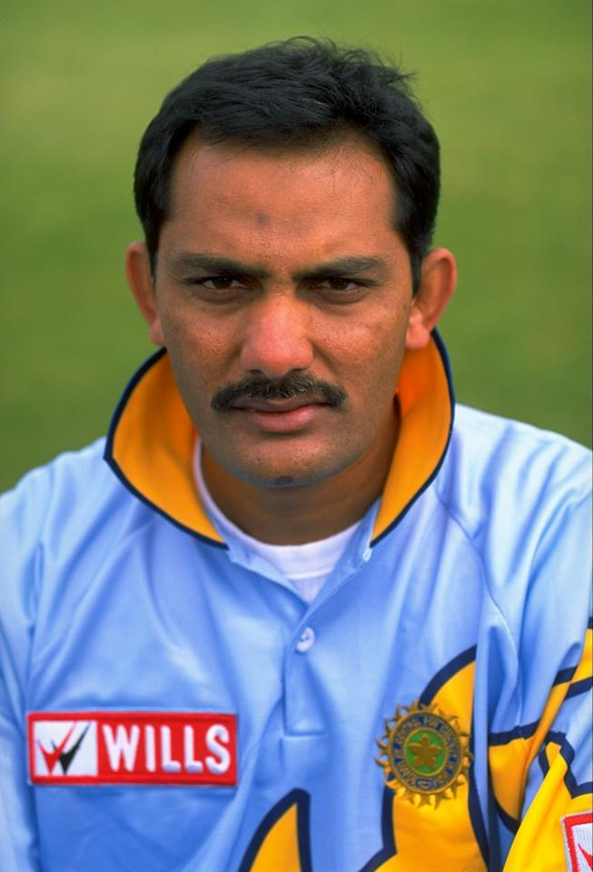 May 1999:  Portrait of Mohammad Azharuddin of India. \ Mandatory Credit: Stu Forster /Allsport