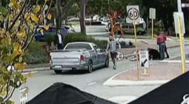 Bystanders stopped to help the 92-year-old. Source: 7News