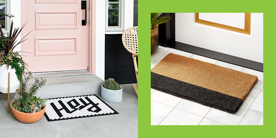 """<p class=""""body-dropcap"""">I know you've heard approximately a milli times about the importance of a good first impression—which is why you're here in search of some cute doormats. Same! Call it my obsession with <a href=""""https://www.cosmopolitan.com/lifestyle/g35084813/best-interior-design-items-hacks-on-amazon/"""" rel=""""nofollow noopener"""" target=""""_blank"""" data-ylk=""""slk:home decor"""" class=""""link rapid-noclick-resp"""">home decor</a> (or my all-encompassing need to people please... heh), shopping for the perfect welcome mat to greet guests into my <a href=""""https://www.cosmopolitan.com/lifestyle/advice/a61780/easy-ways-to-freshen-room/"""" rel=""""nofollow noopener"""" target=""""_blank"""" data-ylk=""""slk:carefully stylized home"""" class=""""link rapid-noclick-resp"""">carefully stylized home</a> is just really gets me going. And you, my friend, should join in on the ride.</p><p>I've scoured the internet and done my research to bring you 13 super cute doormats that are worthy of your front door. From funny ones with cheeky messages on 'em to some simply ~aesthetic~ options for peeps who want an IG-worthy doorstep, I've included them all, below. (And if you're looking for some <a href=""""https://www.cosmopolitan.com/lifestyle/g36006485/cute-bath-mats/"""" rel=""""nofollow noopener"""" target=""""_blank"""" data-ylk=""""slk:cute bath mats"""" class=""""link rapid-noclick-resp"""">cute bath mats</a>, yeah I got those covered, too.)</p>"""