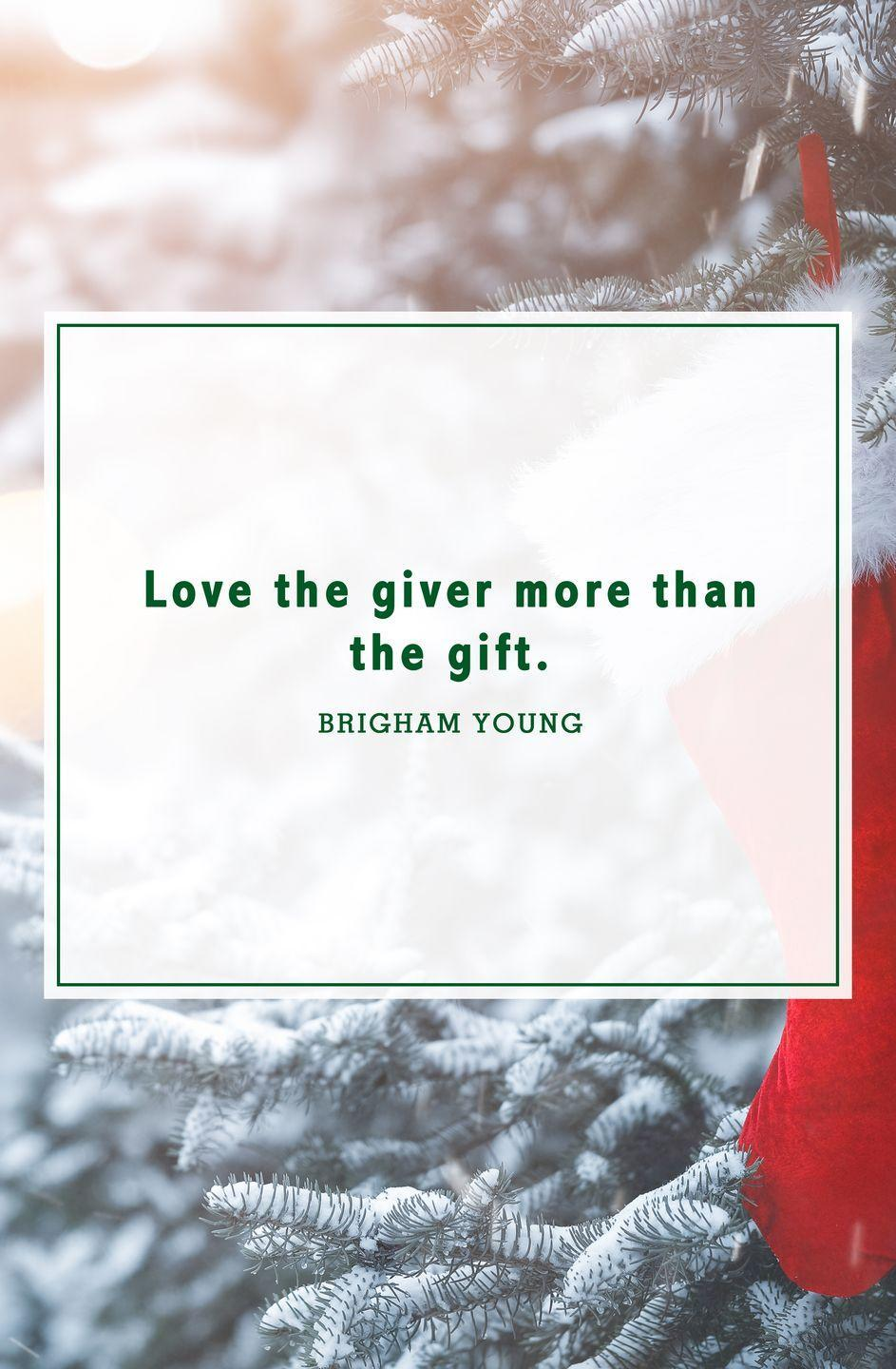 """<p>""""Love the giver more than the gift.""""</p>"""