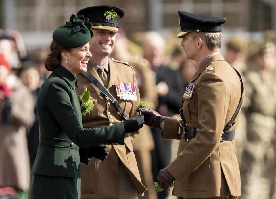 """<h1 class=""""title"""">The Duke And Duchess Of Cambridge Attend The Irish Guards St Patrick's Day Parade</h1><cite class=""""credit"""">Mark Cuthbert</cite>"""