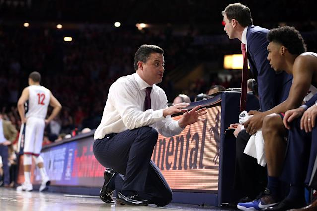 The specter of the FBI investigation will hang over not just Arizona but this entire college basketball season. (Getty)