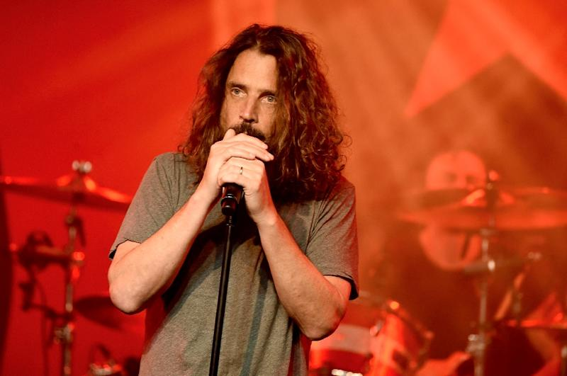 Late singer Chris Cornell performs in Los Angeles on January 20, 2017 (AFP Photo/KEVIN WINTER)
