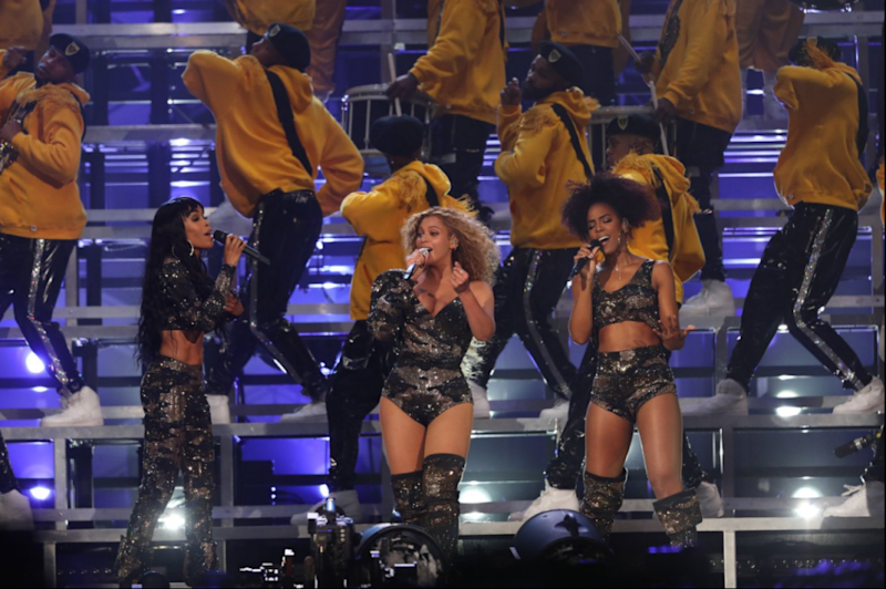 Beyoncé had been performing with her old Destiny's Child bandmates when disaster struck. Source: Beyonce.com