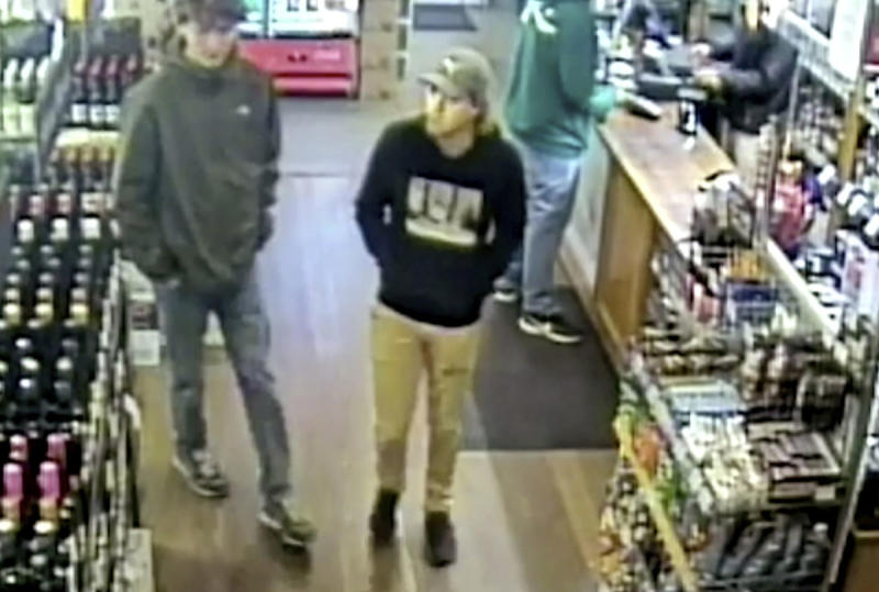CCTV footage shows Theo at a bottleshop on the night he disappeared.