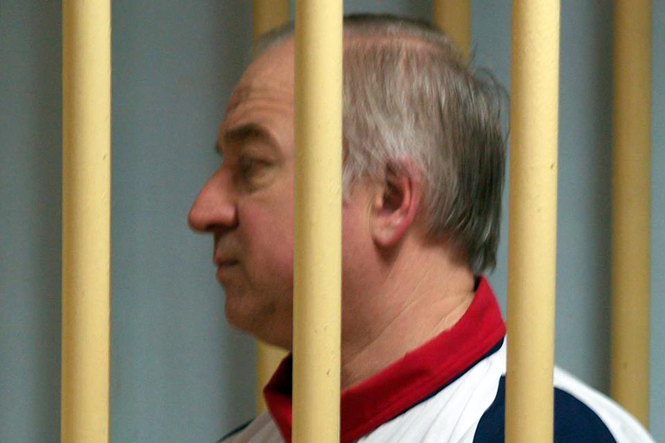 Former Russian military intelligence colonel Sergei Skripal attends a hearing at the Moscow District Military Court in 2006. (Photo: Yuri Senatorov/Kommersant Photo/AFP via Getty Images)