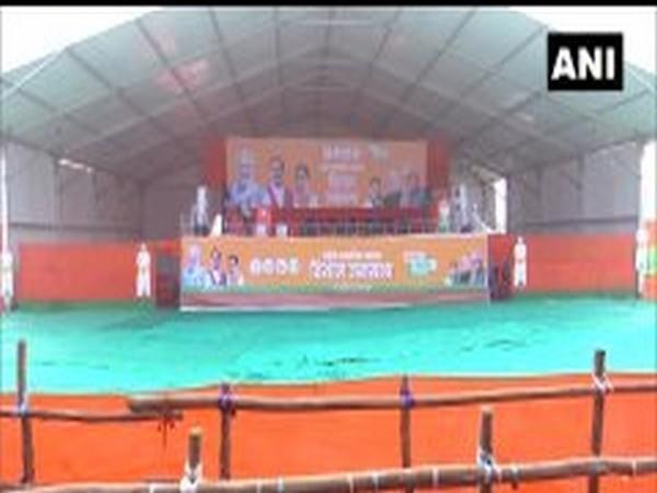 Visual from the rally site in Sasaram, Bihar. [Photo/ANI]