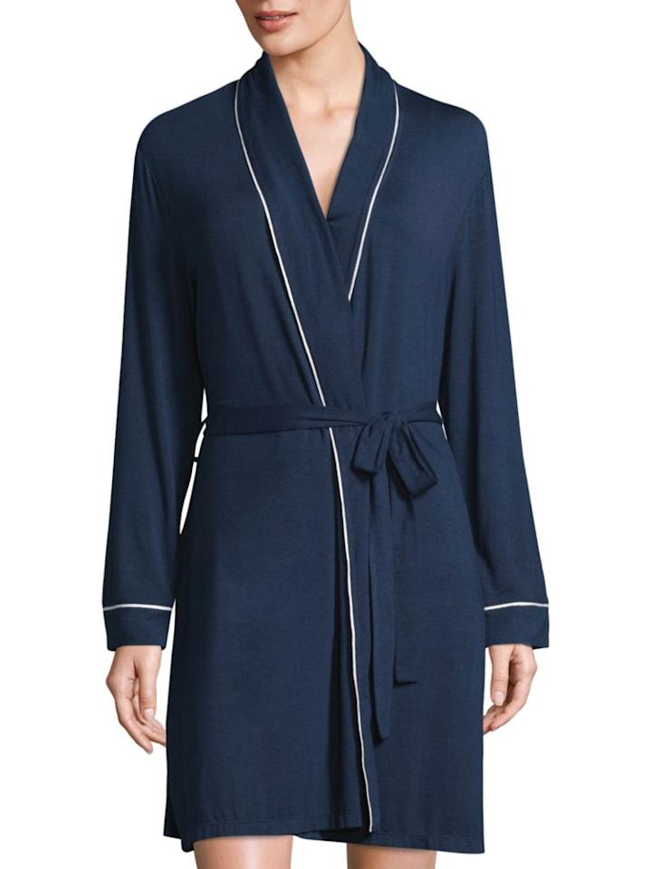 """<p><strong>Eberjey</strong></p><p>saksfifthavenue.com</p><p><strong>$73.50</strong></p><p><a rel=""""nofollow"""" href=""""https://www.saksfifthavenue.com/eberjey-gisele-tuxedo-robe/product/0400097268826"""">Shop Now</a></p><p>Equal parts soft and stylish, this robe is perfect for kicking back. </p>"""
