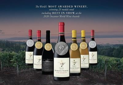 Domaine Serene Becomes the World's Most Awarded Winery at Decanter's 2020 World Wine Awards