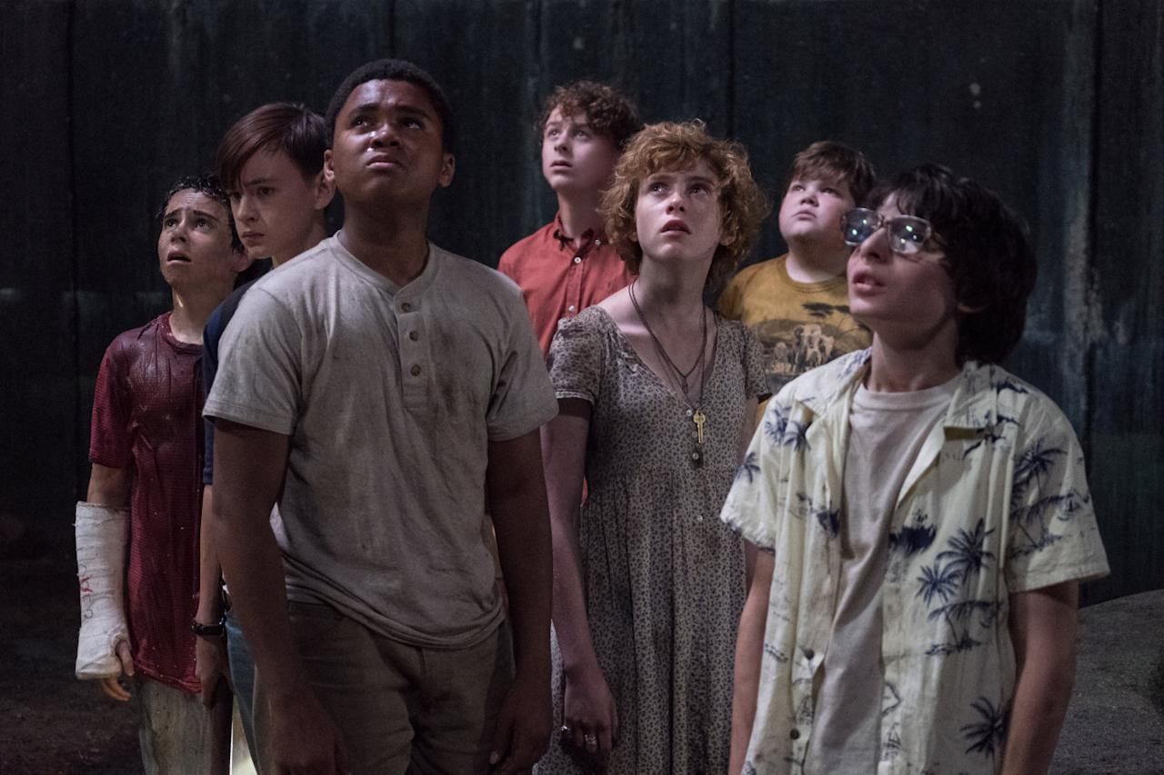 <p>L-R: Jack Dylan Grazer, Jaeden Lieberher, Chosen Jacobs, Wyatt Oleff, Sophia Lillis, Jeremy Ray Taylor and Finn Wolfhard are the Losers Club in 'It' – but who will play their adult counterparts in Chapter Two? (Credit: New Line Cinema) </p>
