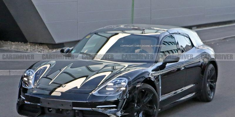 Wagon version of Porsche's Taycan spotted for first time