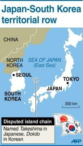Map showing disputed islands claimed by both Japan and South Korea. South Korean President Lee Myung-Bak paid a surprise visit to islands at the centre of a decades-long territorial dispute with Japan, which recalled its ambassador from Seoul in protest
