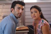 """<p><em>Jane the Virgin </em>is set in the kind of warm, vibrant environment you won't want to leave—kind of like <em>Emily in Paris</em>. The show is structured like a telenovela, with each episode delivering a major twist. The first? Although she's a virgin, 23-year-old Jane (Gina Rodriguez) becomes pregnant after a mix-up at the doctor's office. She decides to keep the baby. Naturally, drama ensues. </p><p><a class=""""link rapid-noclick-resp"""" href=""""https://www.netflix.com/title/80027158"""" rel=""""nofollow noopener"""" target=""""_blank"""" data-ylk=""""slk:Watch Now"""">Watch Now</a></p>"""