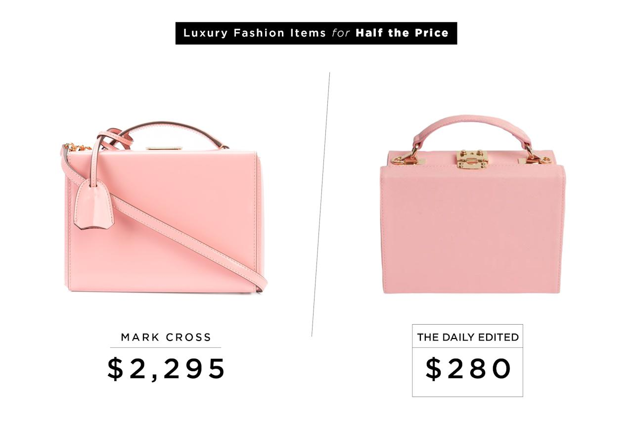 "<p>Mark Cross Mini Grace Box Bag, $2,295, <a rel=""nofollow"" href=""http://www.kirnazabete.com/bags/shoulder-bags/mini-grace-box-bag-75385?utm_source=polyvoreUS&utm_medium=cpc&utm_campaign=shoulder%20bagsdesktop"">kirnazabete.com</a><br />The Daily Edited Peony Pink Box Bag, $280,<a rel=""nofollow"" href=""https://www.thedailyedited.com/peony-pink-box-bag""> thedailyedited.com</a> </p>"