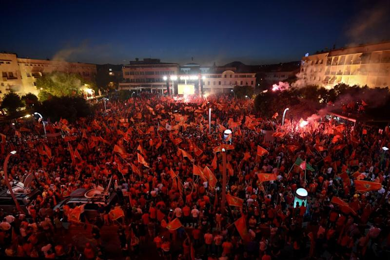 Supporters of President Milo Djukanovic and his Democratic Party of Socialists (DPS) have staged raillies in support of Montenegro's sovereignty. Source: Getty