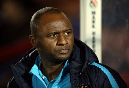 Football - Chelsea v Manchester City - Barclays Under 21 Premier League - EBB Stadium, Aldershot - 26/10/15. Manchester City U21 manager Patrick Vieira Mandatory Credit: Action Images / Matthew Childs