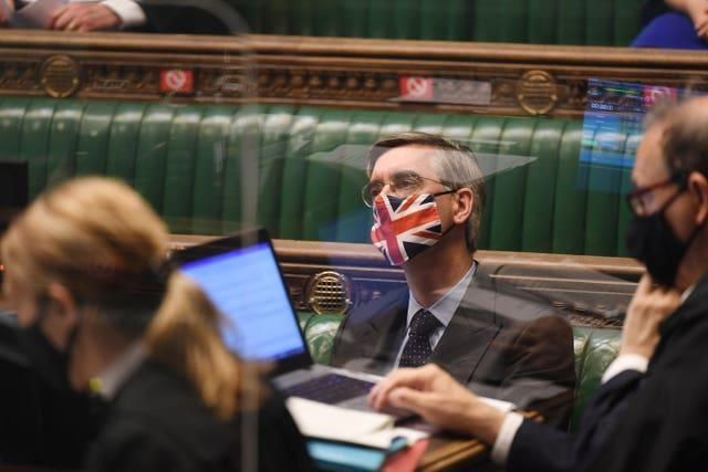 Commons Leader Jacob Rees-Mogg said it is right that MPs can choose when to wear face masks in the chamber