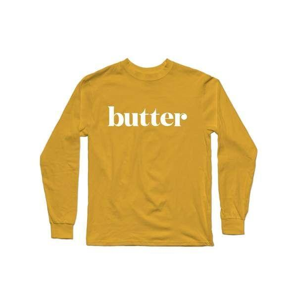 """<p>delish.com</p><p><strong>$25.00</strong></p><p><a href=""""https://shop.delish.com/products/butter-long-sleeve-shirt"""" rel=""""nofollow noopener"""" target=""""_blank"""" data-ylk=""""slk:BUY NOW"""" class=""""link rapid-noclick-resp"""">BUY NOW</a></p><p>Butter goes well on so many things, including this t-shirt. </p><p><strong>See more on <a href=""""https://shop.delish.com/"""" rel=""""nofollow noopener"""" target=""""_blank"""" data-ylk=""""slk:shop.delish.com"""" class=""""link rapid-noclick-resp"""">shop.delish.com</a>. </strong></p>"""