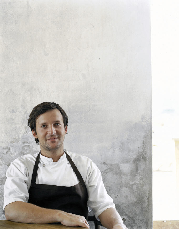 FILE - This undated file photo courtesy of Ditte Isager shows chef Rene Redzepi. At age 32, Redzepi is the chef of the moment, ever since his Copenhagen restaurant, Noma, grabbed first place on Restaurant Magazine's list of the world's 50 best restaurants last spring. For a third consecutive year, chef Rene Redzepi's diminutive but innovative Danish restaurant Noma earned the top spot in Restaurant magazine's annual S. Pellegrino World's 50 Best Restaurant Awards announced Monday in London. (AP Photo/Ditte Isager)