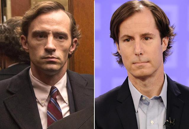 <p>The <em>House of Cards</em> actor has the square jaw, winged hair, and grim visage to play Madoff's younger son, who died in 2014 of lymphoma.<br><br>(Photo: HBO/Getty) </p>