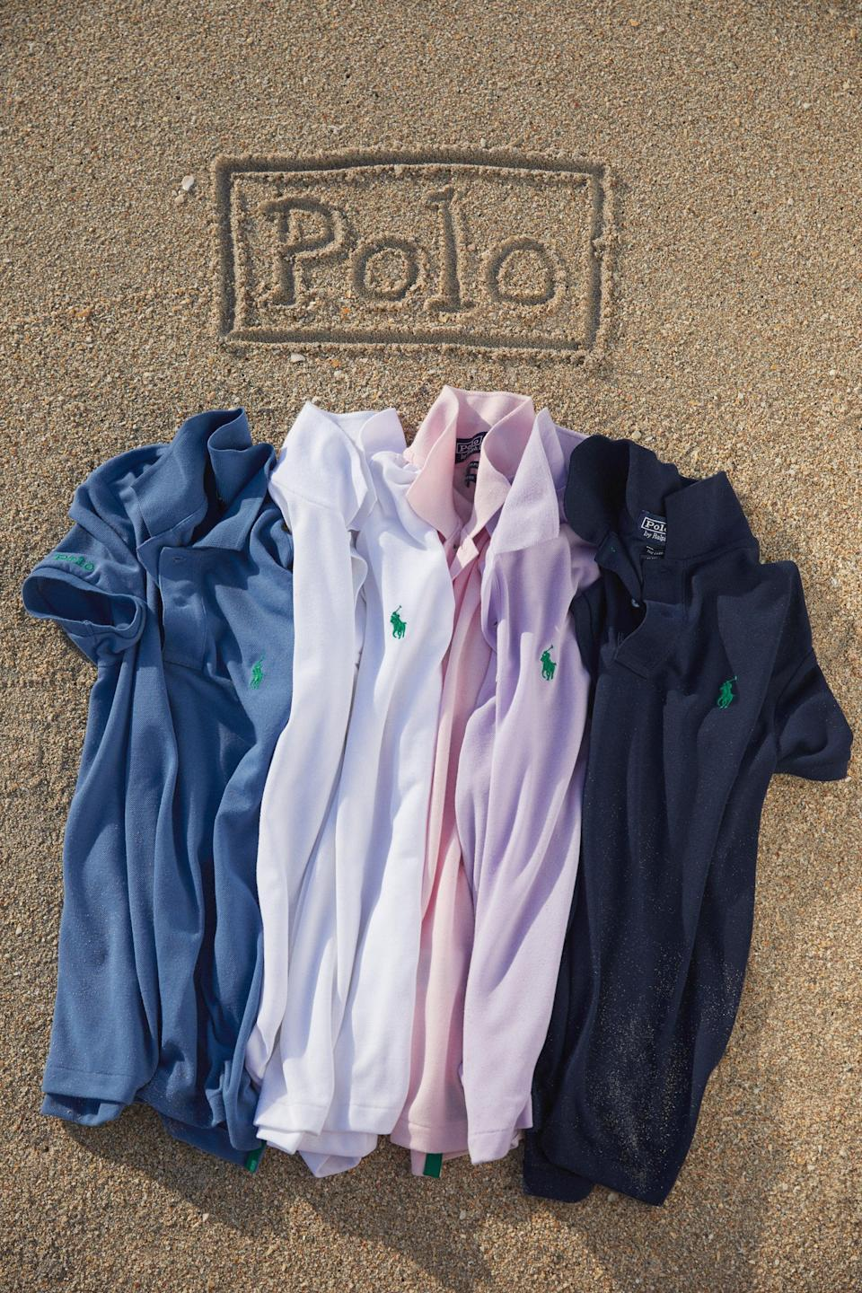 "Each of Ralph Lauren's Earth Day polos is made using on average 12 plastic water bottles, with the brand pledging 175 million bottles to be recycled by 2025. <br> <br> <strong>Ralph Lauren</strong> Earth Day Polo, $, available at <a href=""https://go.skimresources.com/?id=30283X879131&url=https%3A%2F%2Fwww.ralphlauren.com%2Fwomen-clothing-polo-shirts%2Fthe-earth-polo%2F0041780511.html%3FpdpR%3Dy"" rel=""nofollow noopener"" target=""_blank"" data-ylk=""slk:Ralph Lauren"" class=""link rapid-noclick-resp"">Ralph Lauren</a>"